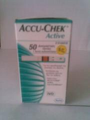 Тестовые полоски для глюкометров Accu-Chek Active 50 шт.