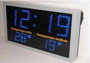 Часы - термометр  светодиодные для улиц,  часовые системы,  табло спорт