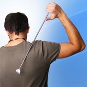 Чесалка для спины,  спиночес-коготь,  телескопический