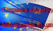 Справка для выезжающих за границу форма 082 / о (справка на визу)