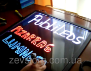 Рекламная LED-доска 40*60,  флуоресцентная доска