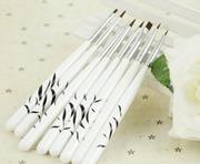 Набор кистей 8 в 1 для художественной росписи ногтей