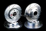 Продам перфорированные передние тормозные диски на BMW e39 с колодками